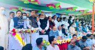 কঠোর লকডাউন ভেঙে ঢাকা থেকে এলেন নেতা : করলেন জনসভা
