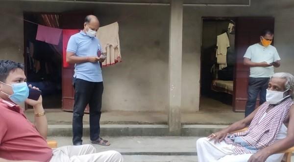 জগন্নাথপুরে বাউল শিল্পীদের বাড়িতে প্রধানমন্ত্রীর উপহার