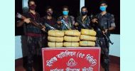 মাধবপুরে বিজিবি'র অভিযানে ৩৪ কেজি গাজা উদ্ধার