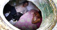 ম্যানহোলেই ২৬ বছর ধরে সুখে সংসার করছেন এক দম্পতি