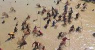 কমলগঞ্জে ধলাই নদীতে 'পলো বাওয়া' উৎসব অনুষ্ঠিত