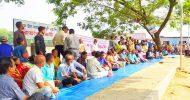 সাম্প্রদায়িক সহিংসতার প্রতিবাদে ফেঞ্চুগঞ্জে গণ-অনশন ও বিক্ষোভ অনুষ্ঠিত